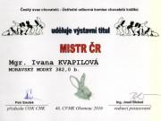 Mistr ČR, moravský modrý